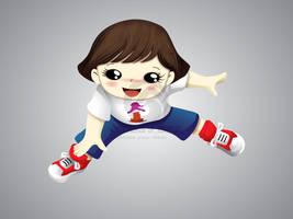 Summer Panda Mascot 1 by hoodaya
