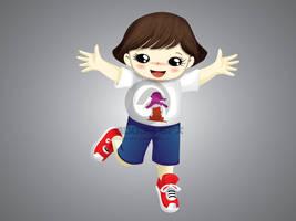 Summer Panda Mascot 2 by hoodaya