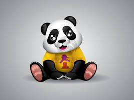 Summer Panda Mascot 3 by hoodaya