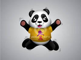 Summer Panda Mascot 4 by hoodaya