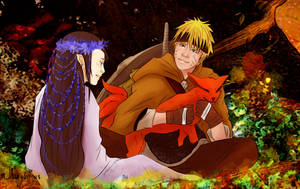 Naruto x Hinata - Forest Lady by shamylicious
