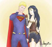 naruhina superman wonderwoman crossover by shamylicious