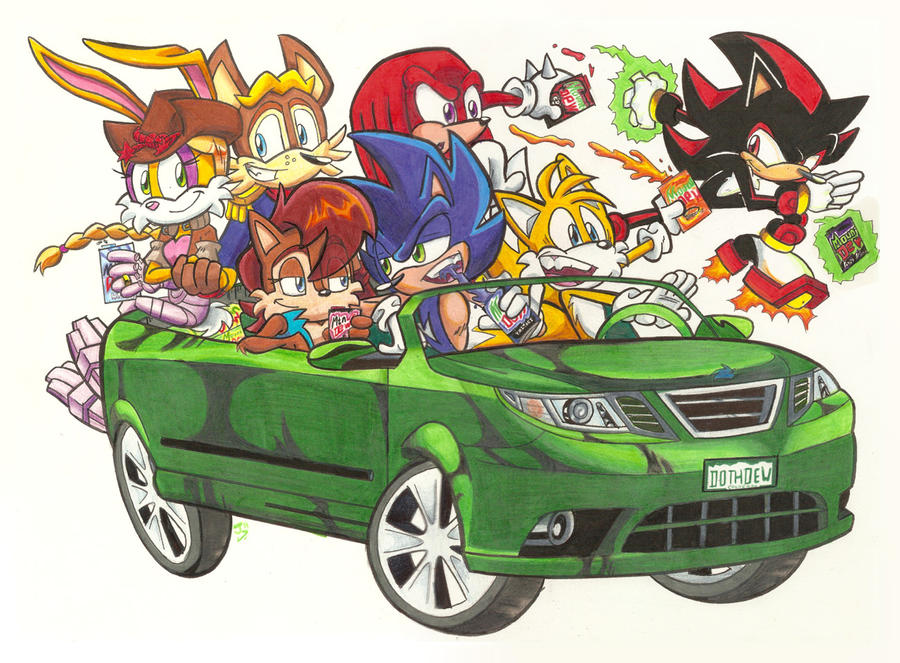 Sonic the Hedgehog n Pals Do the Dew by Spectrumelf on DeviantArt