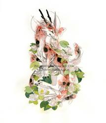 Koi Dragon by ZulayaWolf