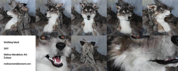 Realistic Wolfdog fursuit head