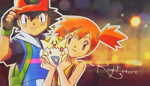 Pokeshipping Pokemon Ash and Misty Banner