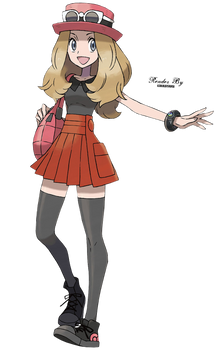 Serena Pokemon X and Y Girl Trainer Render png