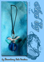 Phone Strap - Angel Egg Blue by SCCreations