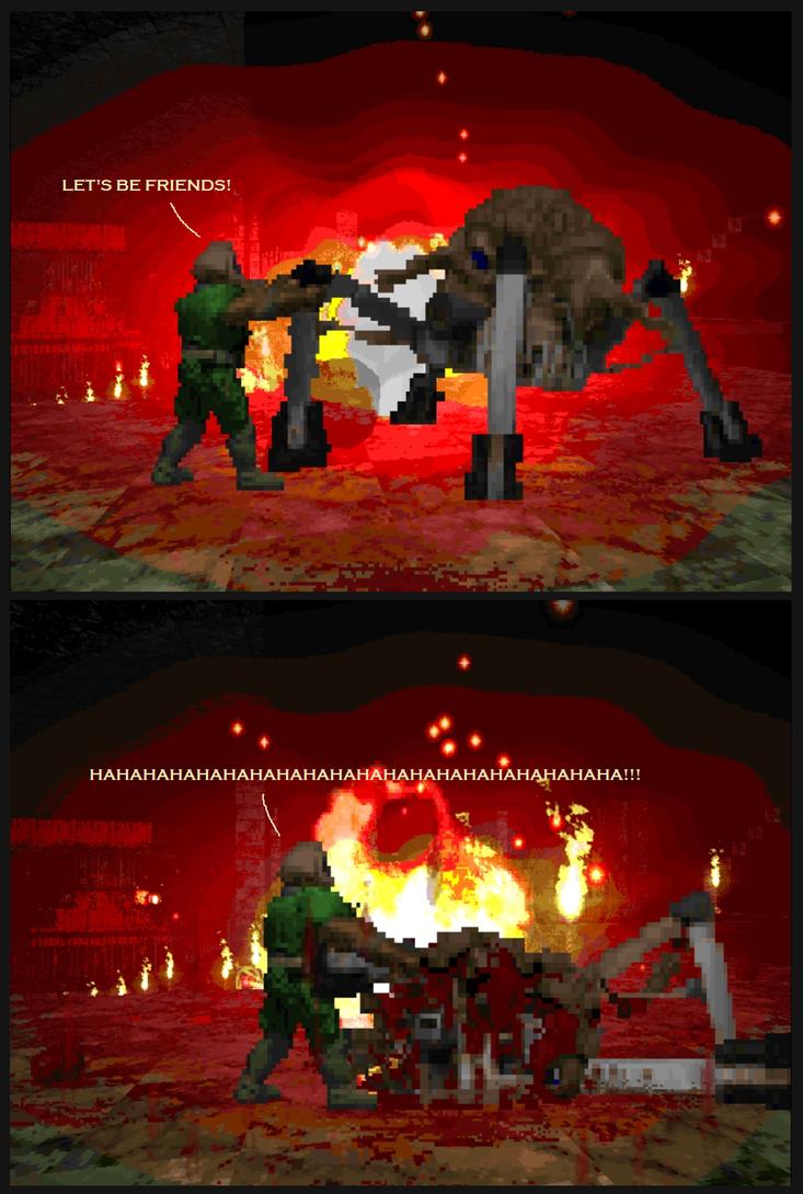 Brutal Doom: The Handshake by Starmansurfer