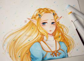 Princess Zelda - BOTW by Rabiscario