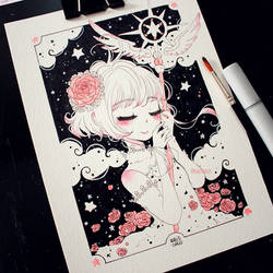 Inktober 2017 - #01 - Kinomoto Sakura by Rabiscario