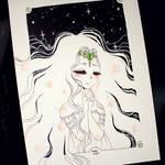 Inktober 2017 - #25 - Princess Emeraude by Rabiscario