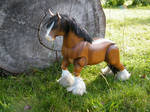 OOAK Clydesdale Marionette Completed I