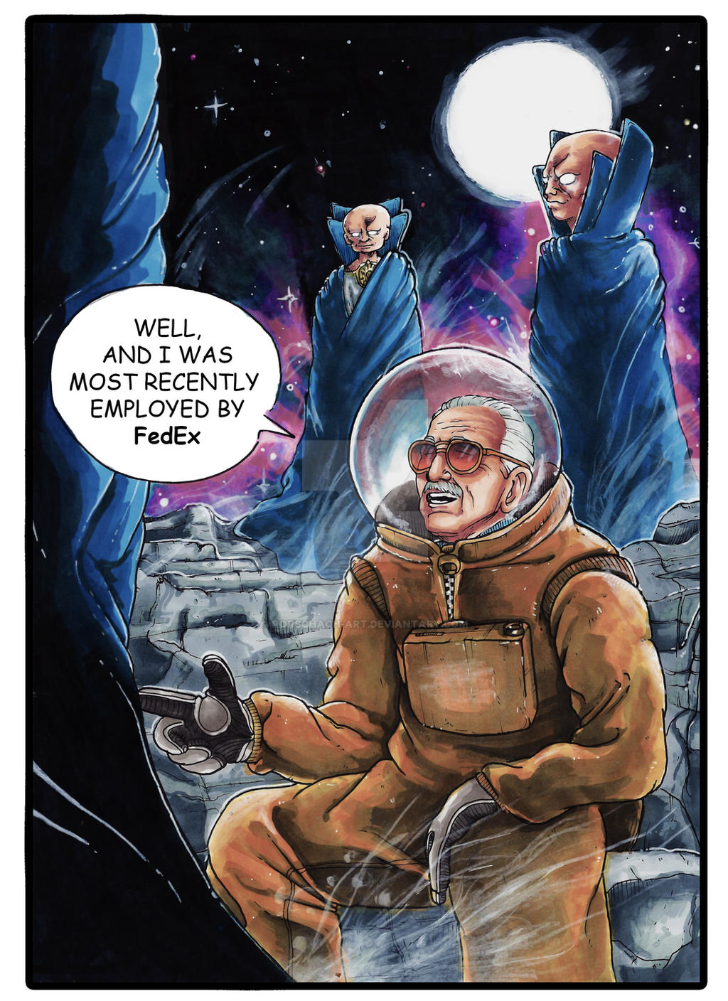 guardians of the galaxy 2 stan lee cameo by Rorschach-Art ...
