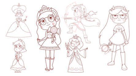 The Queens of Mewni - Character Design by jgss0109