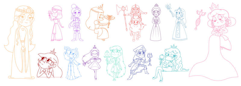 The Queens of Mewni 2 - Character Design