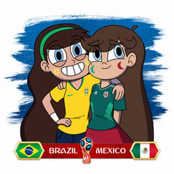 Aurora and Luna - Brazil x Mexico by jgss0109
