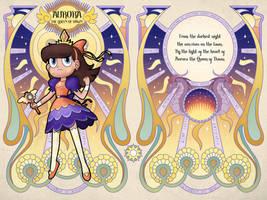 Aurora the Queen of Dawn - Book of Spells Pedestal by jgss0109