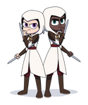 Sam and Ally - Assassins's Guild Outfit by jgss0109