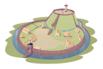 Butterfly Castle - Motte and Bailey