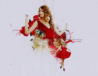 Pretty lady in red by Rio-Liv