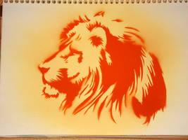 lion stencil by les-cerceaux