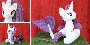 Rarity Inspired Hippocampus Plushie