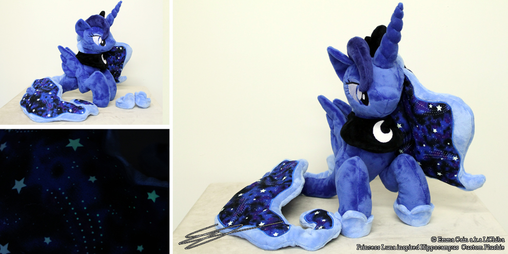 Princess luna Inspired Hippocampus Plush by LiChiba
