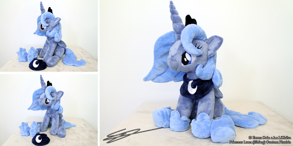 Princess luna Sitting MLP Plushie by LiChiba