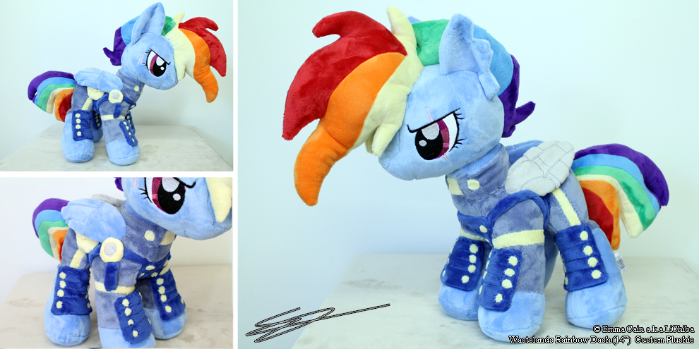 Wastes Rainbow Dash - 14 inch Pony Plushie by LiChiba