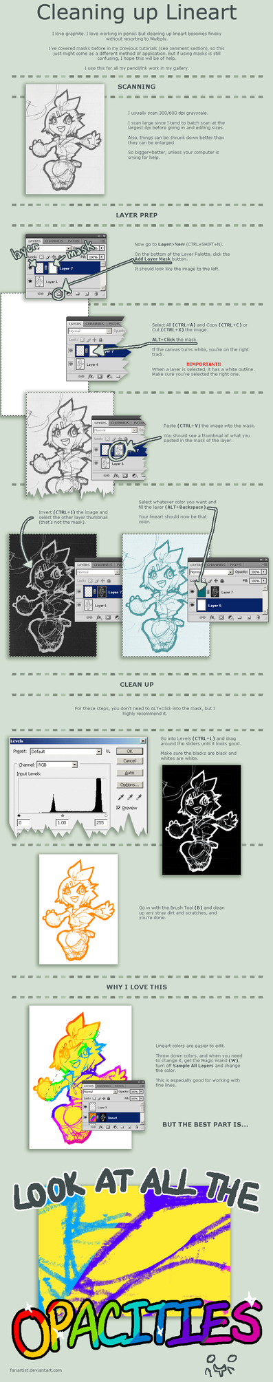 Sketch Clean-up Tutorial by ahnline