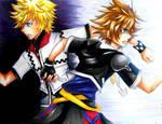 Kingdom Hearts-Roxas and Sora