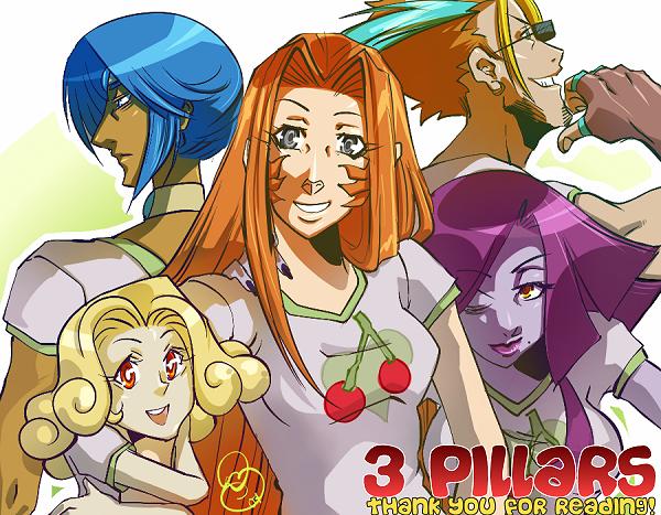 3 Pillars: Cherry Shirts by karniz