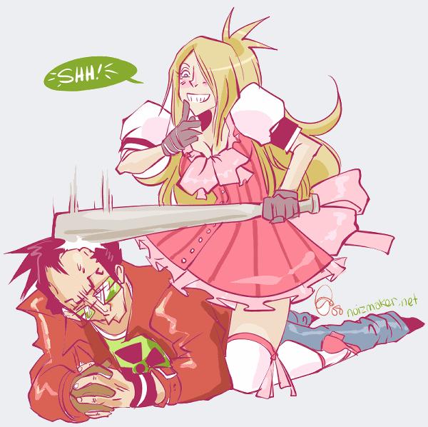 NMH: Badgirl vs Travis by karniz