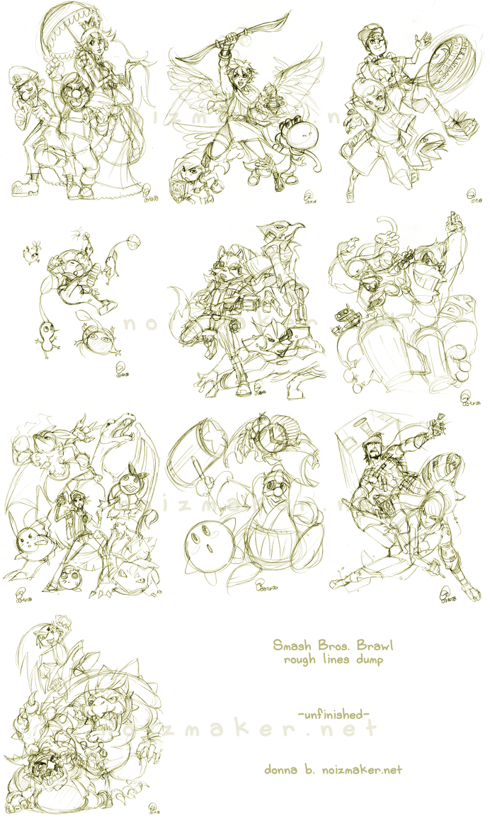Sketches: Smash Bros. Brawl by karniz