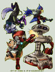 SSBBrawl: Fox Team