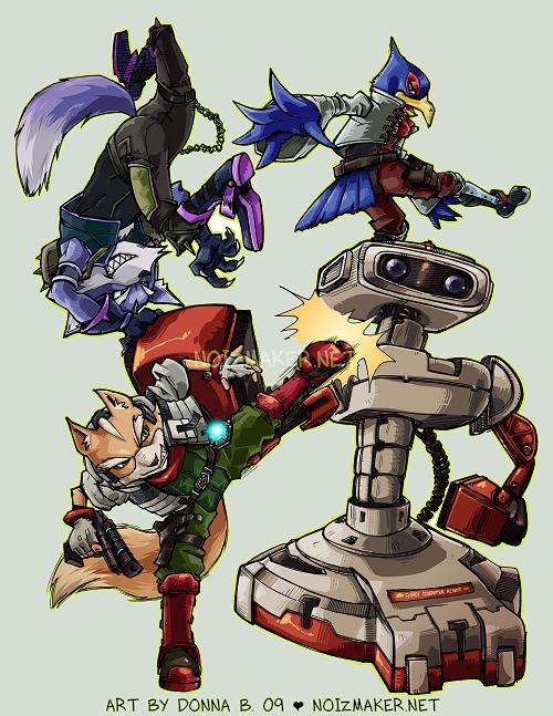 SSBBrawl: Fox Team by karniz