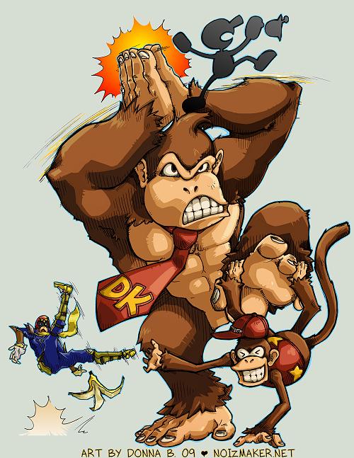 SSBBrawl: Donkey Kong Team by karniz