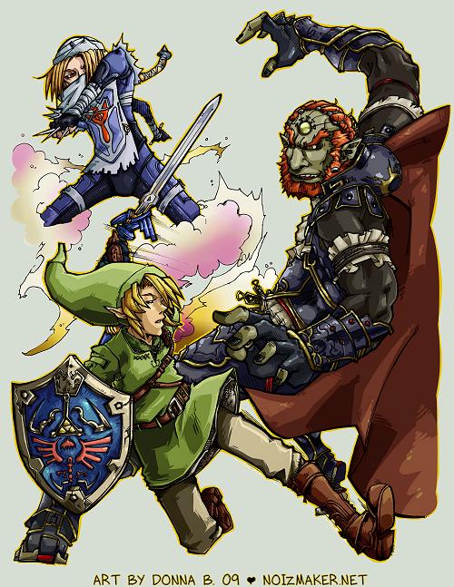 SSBBrawl: Zelda Team by karniz