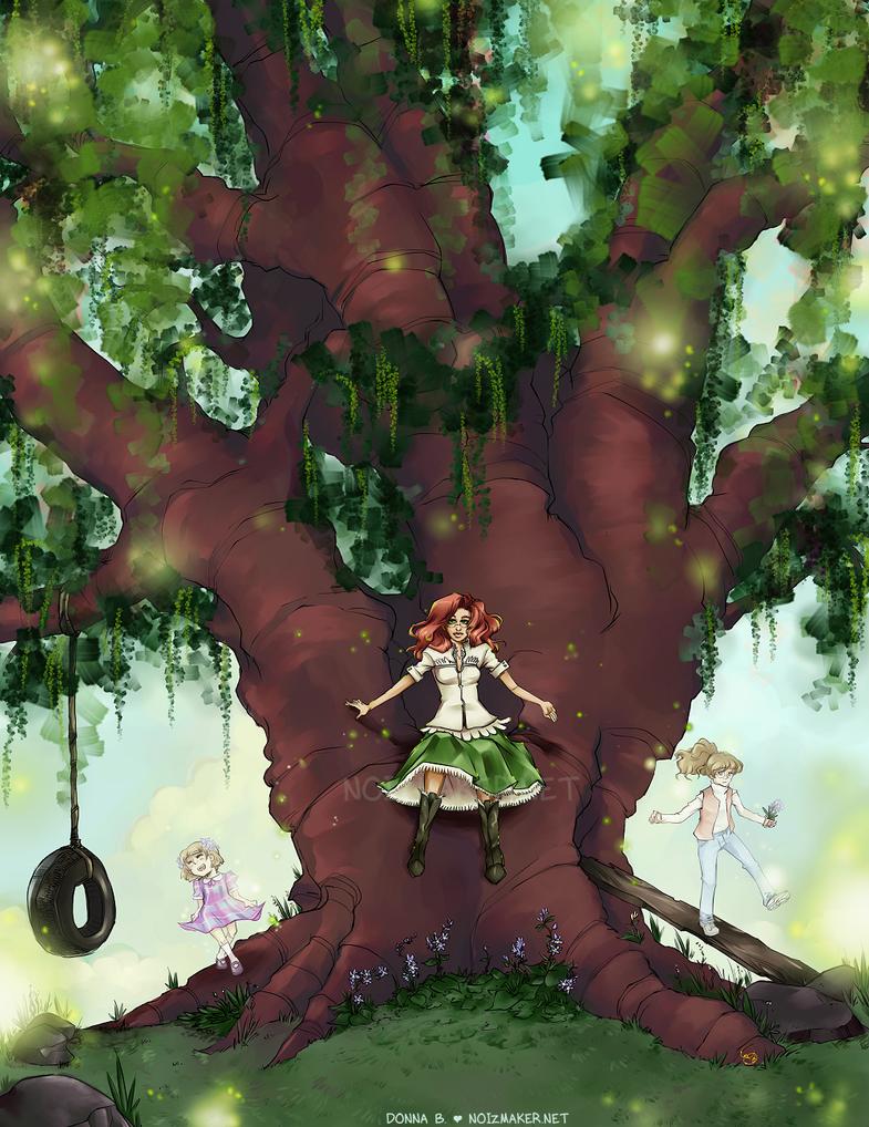 Commission: Tree of Memories by karniz