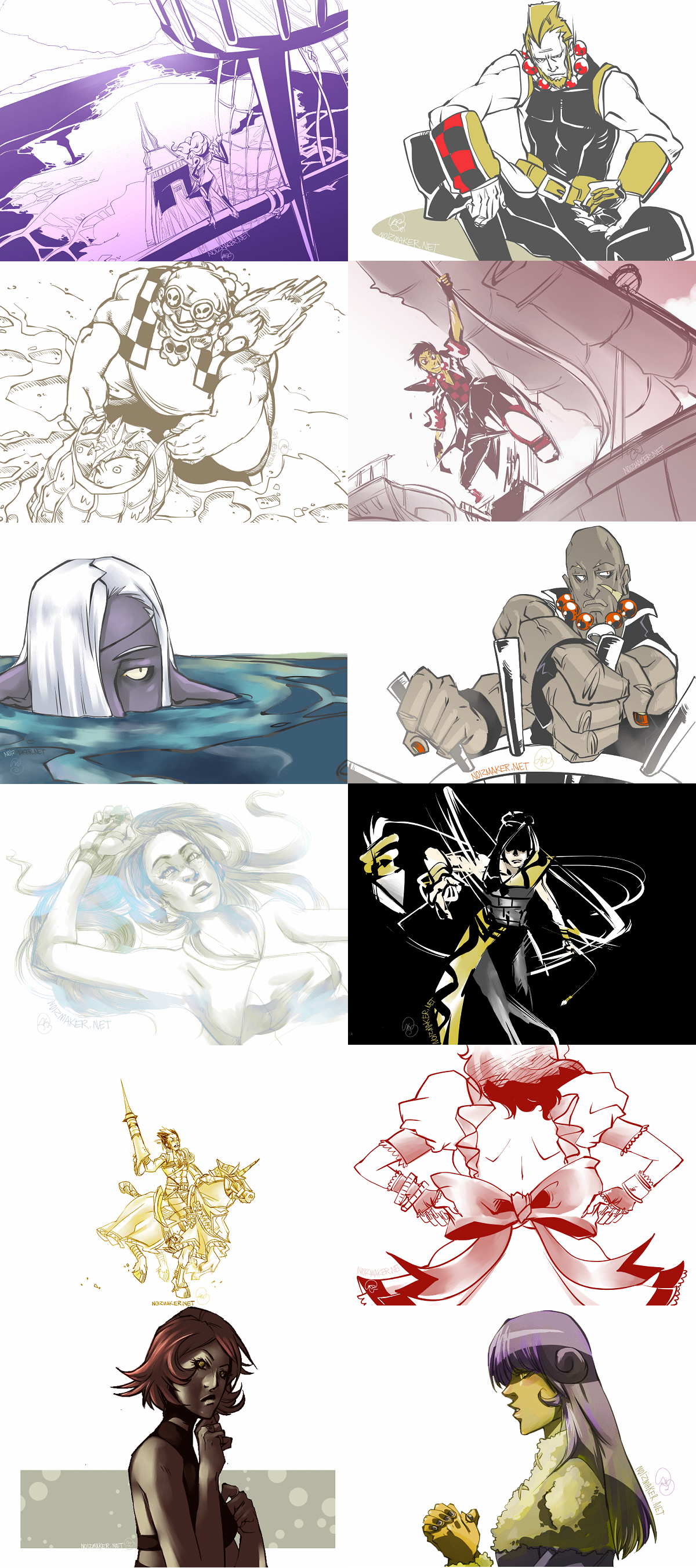 3 Pillars: Daily Sketches 002 by karniz