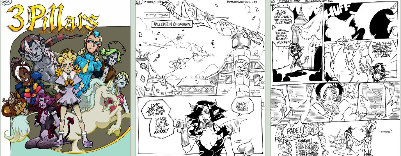 3 Pillars: Halloween Comic pt1 by karniz