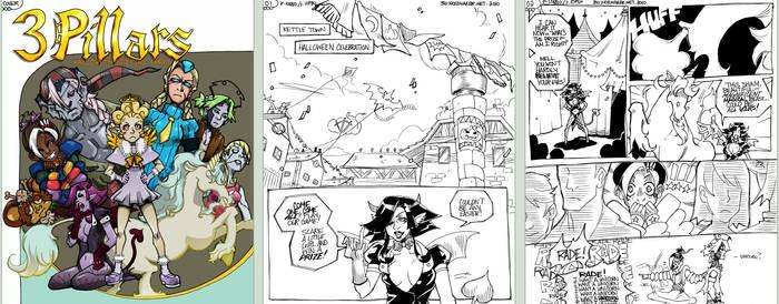 3 Pillars: Halloween Comic pt1