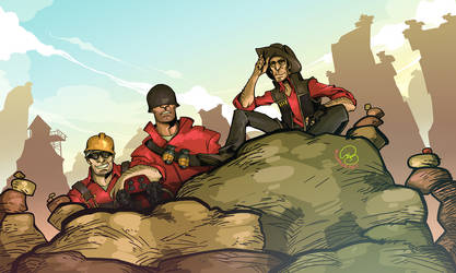Team Fortress 2: Problem Trio by karniz