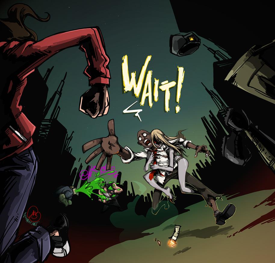 Left 4 Dead: Louis + The Witch by karniz