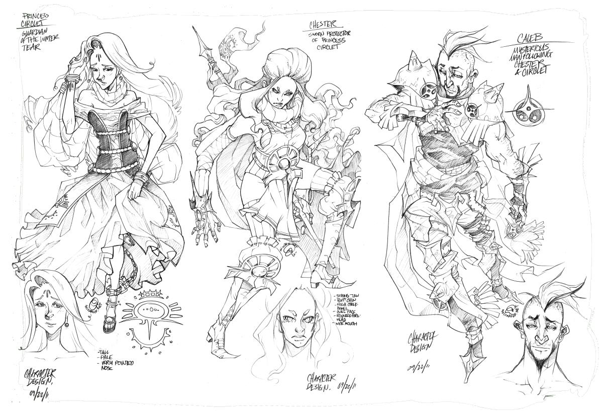 Viceroy: Character Designs by karniz