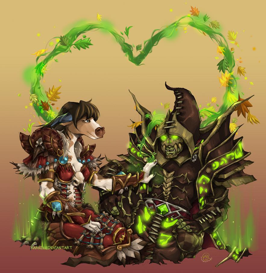 World of Warcraft: Leotie + Khazock by karniz