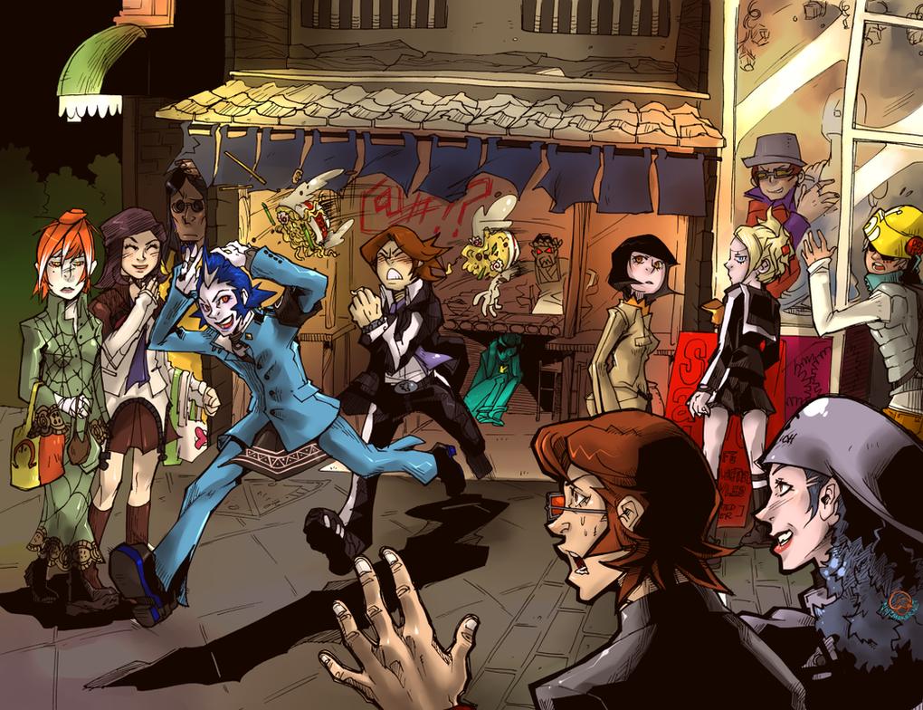 Persona 2: Noodle Shop Mayhem by karniz