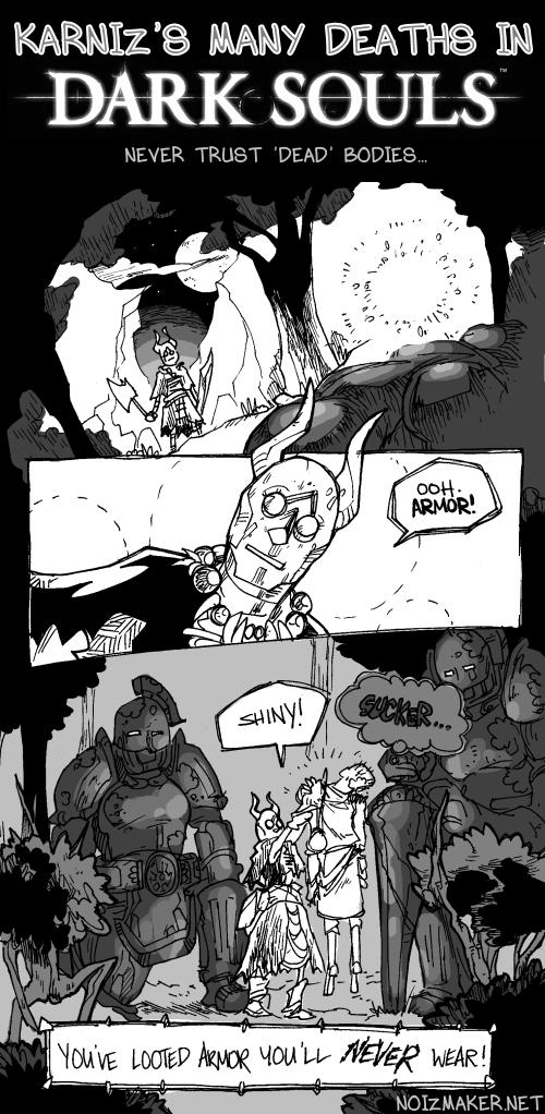 Dark Souls: Useless Armor by karniz