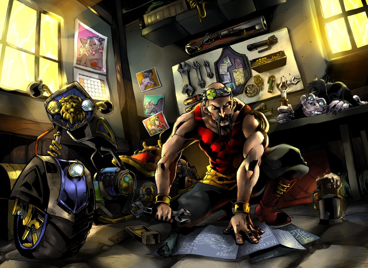 Commission: Zanfu's Workshop by karniz